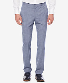 Perry Ellis Portfolio Men's Slim-Fit Stretch Plaid Pants