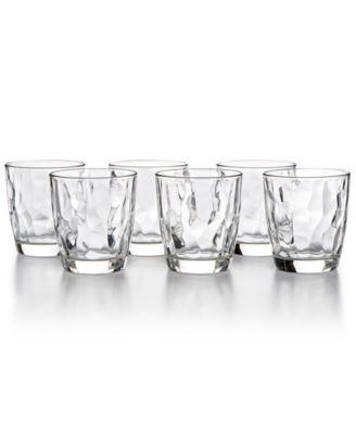 Diamond 6-Pc. Double Old Fashioned Glass Set