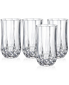 Cristal D'Arques Longchamp Set of 4 Highball Glasses