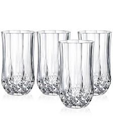 Cristal D'Arques Longchamp Set of 4 Highball Glasses