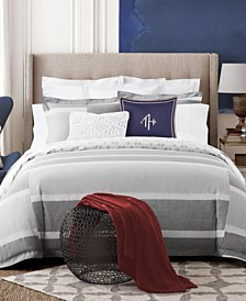 Tommy Hilfiger Woodford Cotton Reversible Stripe Full/Queen Duvet Set