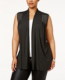 Belldini Plus Size Braided Vest