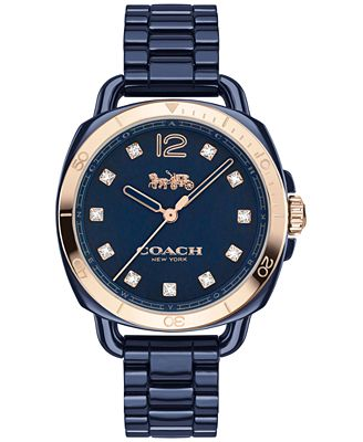 COACH Women's Tatum Navy Ceramic Bracelet Watch 34mm 14502753, Only at Macy's