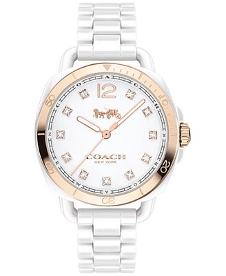 COACH Women's Tatum White Ceramic Bracelet Watch 34mm 14502752, Only at Macy's