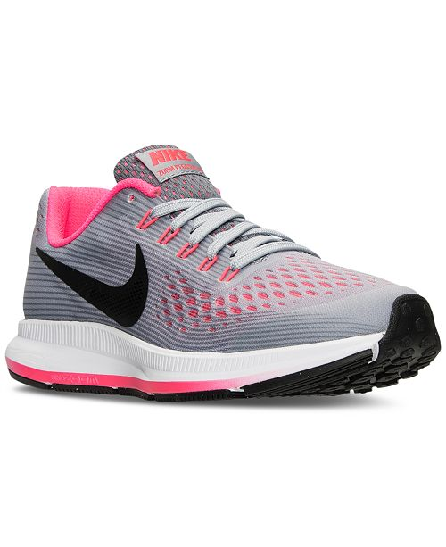 67e3836a Nike Big Girls' Air Zoom Pegasus 34 Running Sneakers from Finish ...