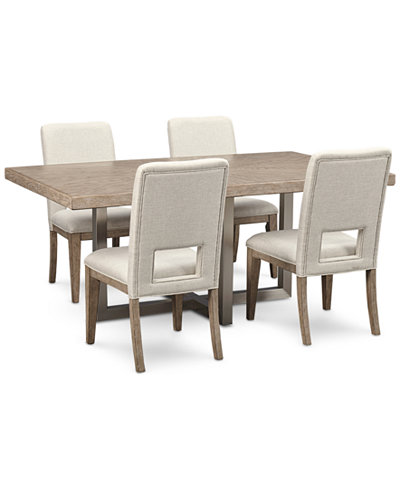Altair Dining Furniture Set, 5-Pc. (Dining Table & 4 Side Chairs), Created for Macy's