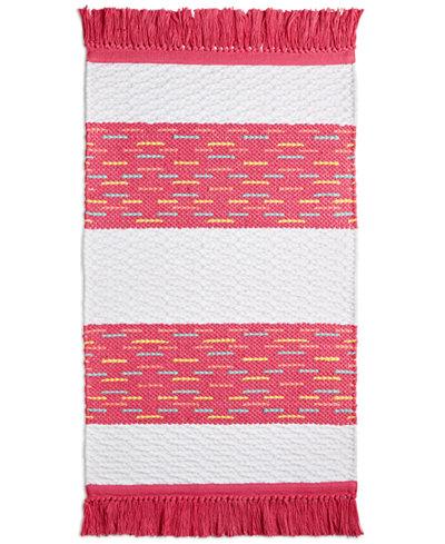 CLOSEOUT! Whim by Martha Stewart Collection Flamingo Kiss Cotton Stripe 20