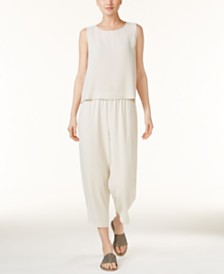Eileen Fisher SYSTEM Shell & Cropped Pants