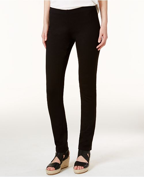 Eileen Fisher Ponte Pull-On Skinny Pants, Regular & Petite