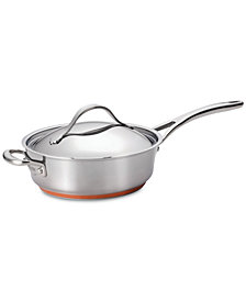 Anolon Nouvelle Copper Stainless Steel 3-Qt. Covered Sauté Pan