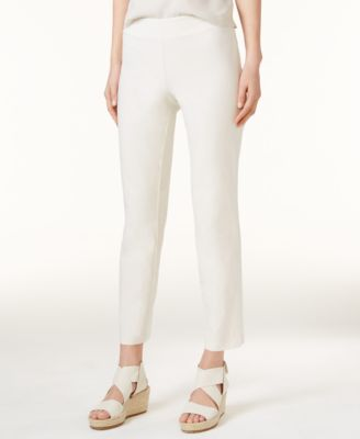 Washable Crepe Slim-Leg Ankle Pants, Regular & Petite