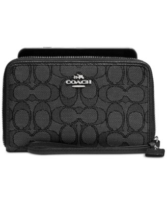coach hobo handbags outlet g28b  COACH Boxed Zip Around Wallet in Signature Jacquard