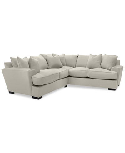 Ainsley 2-Piece Sectional with Loveseat, Created for Macy's & 6 Toss Pillows