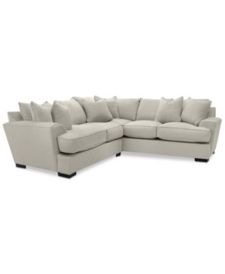 ainsley 2piece sectional with loveseat u0026 6 toss pillows created for macyu0027s - 2 Piece Sectional