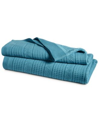 CLOSEOUT! Ultra Soft 100% Cotton Zig Zag Twin Blanket