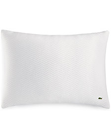 Lacoste Home Cotton Chevron Quilted Standard Sham