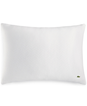 Image of Lacoste Home Cotton Chevron Quilted Standard Sham Bedding