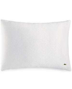 Lacoste Home Cotton Chevron Quilted Standard Sham Bedding