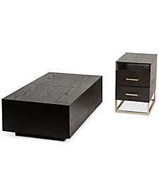 CLOSEOUT! Odyssey 2-Pc. Storage Table Set (Rectangle Storage Coffee Table & End Table)