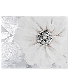 Grey Bloom Canvas Print