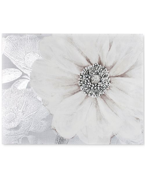 Graham & Brown Grey Bloom Canvas Print