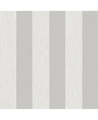 Graham & Brown Ariadne White and Silver Wallpaper