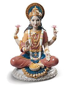 Lladró Goddess Sri Lakshmi Figurine