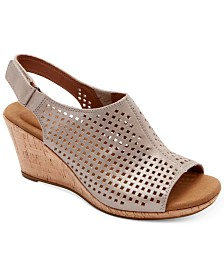 Rockport Women's Briah Perforated Slingback Wedges