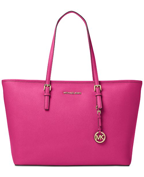 b91fb2400e632a ... Michael Kors Jet Set Travel Medium Top Zip Multifunction Tote ...