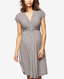 Seraphine Maternity Jersey Twist-Front Dress