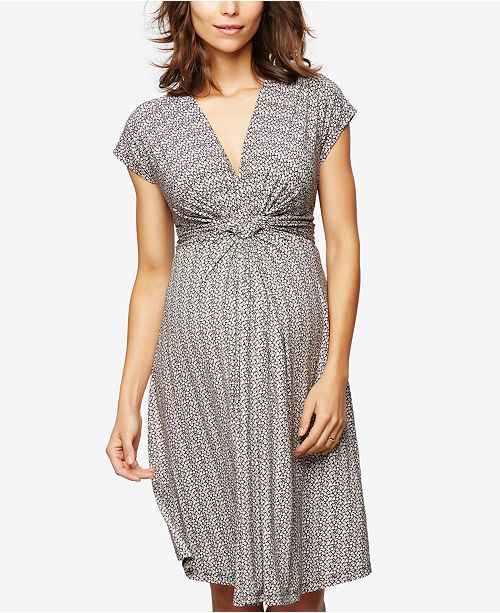e68a0f8b0a8e8 Seraphine Maternity Jersey Twist-Front Dress & Reviews - Maternity ...