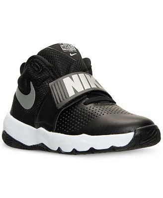 Nike Team Hustle D 8 Boys Basketball Shoes Black/White zT6949S