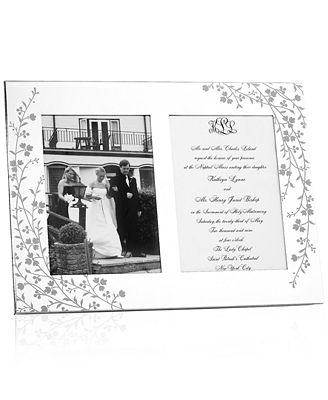Martha Stewart Collection Picture Frame, Silver Plated Trousseau ...