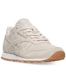 Reebok Women's Classic Leather Exotic Casual Sneakers from Finish Line
