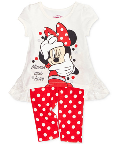 Disney's� Minnie Mouse 2-Pc. Tunic & Leggings Set, Toddler & Little Girls (2T-6X)