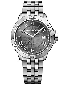 RAYMOND WEIL Men's Swiss Tango Stainless Steel Bracelet Watch 41mm 8160-ST-00608