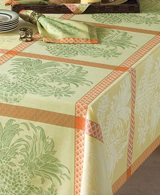 Tommy bahama table linens pineapple jacquard 52 x 70 for Table linens 52 x 70