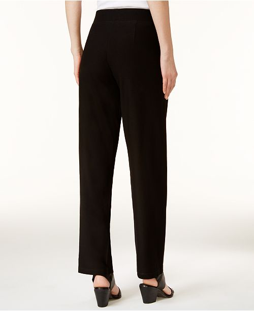 bd5f029105883 Eileen Fisher Washable Crepe Straight-Leg Pants