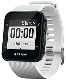 Garmin Unisex Forerunner® 35 White Silicone Strap Smart Watch 41mm