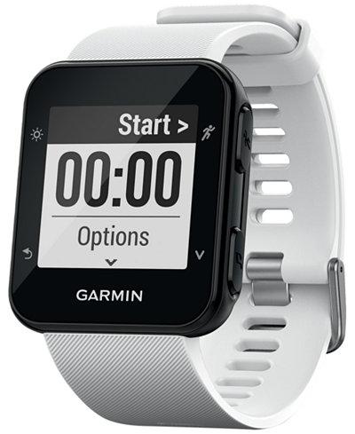 Garmin Unisex Forerunner® 35 White Silicone Strap Smart Watch 41mm