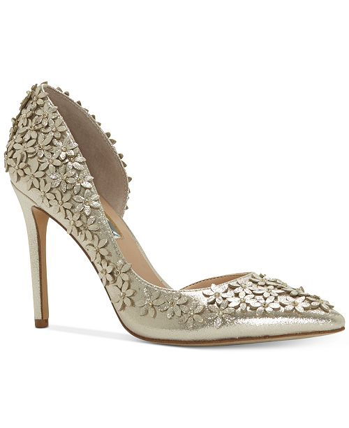 INC International Concepts I.N.C. Women's Karlay Floral Embellished Evening Pumps, Created for Macy's