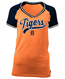 5th & Ocean Women's Detroit Tigers Rhinestone Night T-Shirt