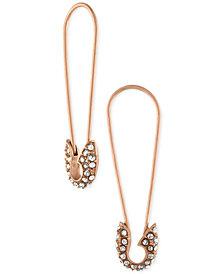 RACHEL Rachel Roy Rose Gold-Tone Pavé Safety Pin Linear Drop Earrings