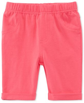 Image of First Impressions Solid Bermuda Shorts, Baby Girls (0-24 months), Created for Macy's