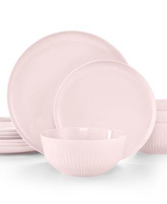 Hotel Collection Modern Porcelain Rose Quartz 12-Pc. Dinnerware set Service for 4  sc 1 st  Macy\u0027s & Hotel Collection Modern Porcelain Rose Quartz 12-Pc. Dinnerware set ...