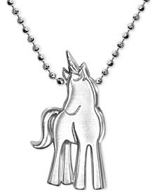 Princess Unicorn Pendant Necklace in Sterling Silver
