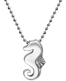 Alex Woo Seahorse Pendant Necklace in Sterling Silver