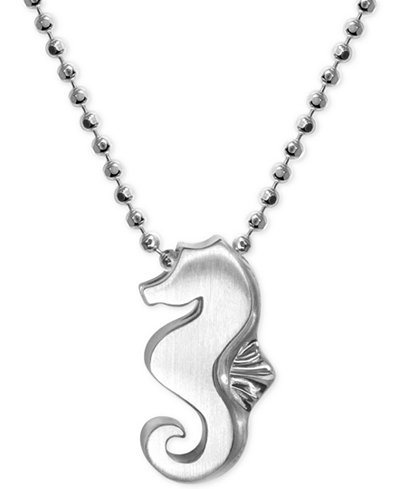Alex woo seahorse pendant necklace in sterling silver necklaces alex woo seahorse pendant necklace in sterling silver aloadofball Image collections