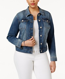 Celebrity Pink Trendy Plus Size Denim Jacket