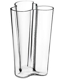"""Aalto Finlandia 10"""" Clear Vase"""
